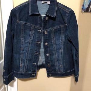 Jackets & Blazers - NWT Chicos denim jacket petite